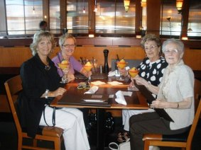 Gail and I celebratin our mothers, Anne (second from right) and Barbara (right), who are now both gone.