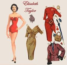 My Elizabeth Taylor and Debbie Reynolds paper dolls provided hours of fun fighting over Eddie Fisher.